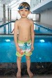 Future champion in swimming stock image