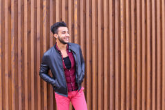 Confident Cute Young Muslim Man Poses And Looks at Camera, Smile Stock Photos