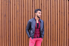 Confident Cute Young Muslim Man Poses And Looks at Camera, Smile Royalty Free Stock Images