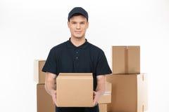 Confident deliveryman. Stock Images