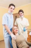 Confident dental team Stock Images