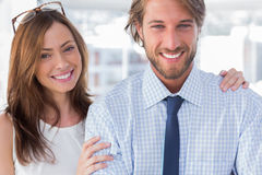 Confident design team smiling together Royalty Free Stock Photography