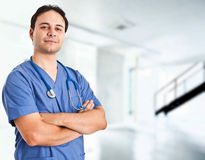 Confident doctor Stock Images