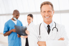Confident doctor. Royalty Free Stock Images