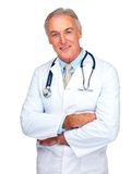 Confident doctor isolated over white Royalty Free Stock Image