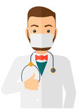 Confident doctor in mask Stock Images