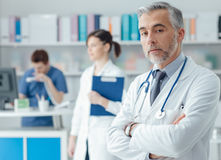 Confident doctor in the office Stock Photography