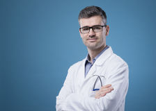 Confident doctor posing Stock Photography
