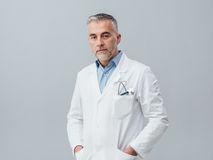 Confident doctor posing royalty free stock images