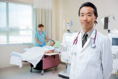 Confident Doctor on Renal Ward Stock Photography