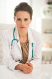Confident doctor woman in office Stock Photo