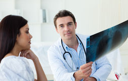 Confident doctors analyzing an x-ray Stock Photography