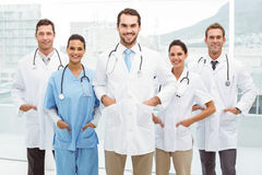 Confident doctors with hands in pockets Stock Images
