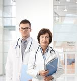 Confident doctors in medical center Royalty Free Stock Photography
