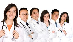 Confident doctors team Royalty Free Stock Images