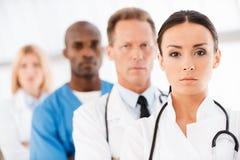 Confident doctors team. stock image