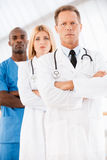 Confident doctors team. Royalty Free Stock Photo