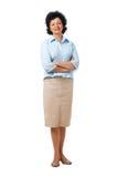Confident Elder Woman Standing. Stock Photos