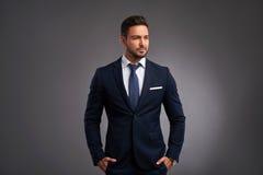 Confident elegant young man Stock Image