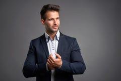 Confident elegant young man Stock Photo