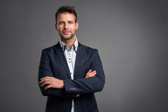Confident elegant young man Royalty Free Stock Image