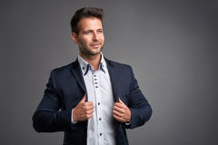 Confident elegant young man Stock Images