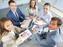 Confident employees Stock Image