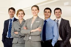 Confident employer Stock Images