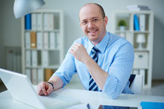 Confident employer Stock Photo
