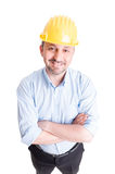 Confident engineer or architect smiling Royalty Free Stock Image
