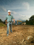 Confident engineer on construction site Royalty Free Stock Photos