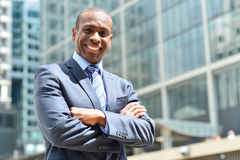 Confident entrepreneur, folded arms. Royalty Free Stock Images