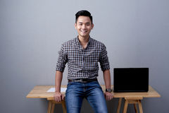 Confident Entrepreneur Posing for Photography Royalty Free Stock Images