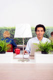 Confident Environmentalist In Office royalty free stock photography