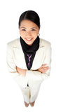 Confident ethnic businesswoman with folded arms Royalty Free Stock Images