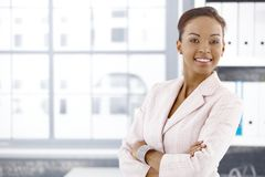 Free Confident Ethnic Businesswoman In Office Royalty Free Stock Photography - 19263597