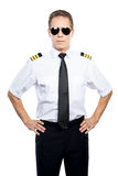 Confident and experienced pilot. Royalty Free Stock Photo