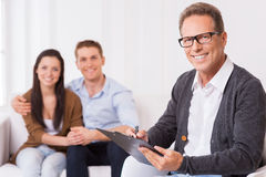Confident family psychologist. Stock Photography