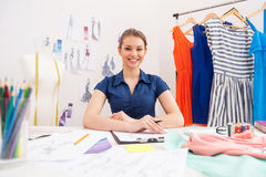 Confident fashion designer. Royalty Free Stock Photography