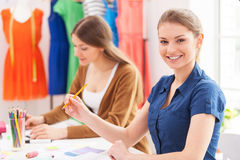 Confident fashion designers. Royalty Free Stock Photo