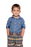 Confident fashion little boy Stock Photos