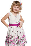 Confident fashion little girl Royalty Free Stock Photos