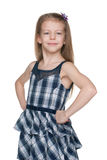 Confident fashion little girl Royalty Free Stock Photo
