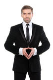 Confident fashion young businessman, arms folded. Stock Photo