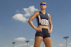 Confident Female Athlete Looking Away Stock Photography