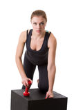Confident female athlete posing looking at camera Stock Images