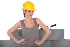 Confident female builder Stock Photography