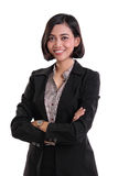 Confident female business expert, isolated on white stock image