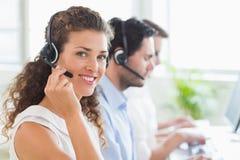 Confident female call center agent Stock Photos