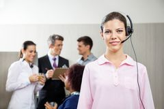 Confident Female Customer Service Representative Stock Images